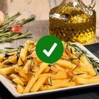 ¡Listo!  Ya tenés tus Papas al horno con ajo y aceite de oliva, ahora a disfrutar.